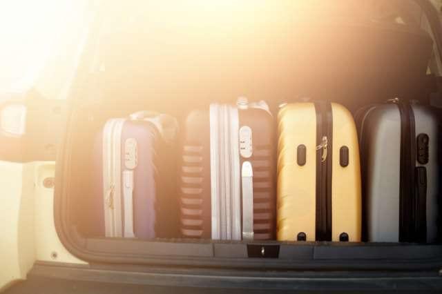 複数のスーツケース