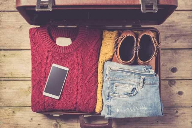 スーツケースへのパッキング